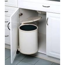 built in trash compactor under cabinet trash under sink cupboard fit out cabinet trash
