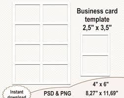 Business Card Sheet Template Business Card Etsy Studio