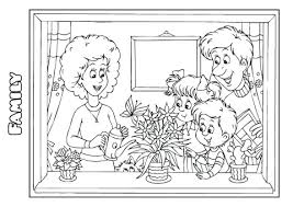 family coloring book template family coloring book