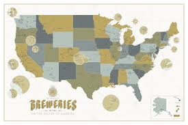 Portland Breweries Map by Craft Brewery Map Images