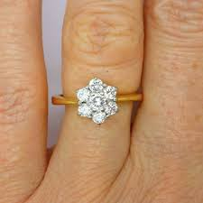 flower engagement ring vintage 45 best rings images on triangle ring