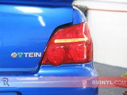 custom blue subaru rtint subaru wrx sti 2006 2007 tail light tint film