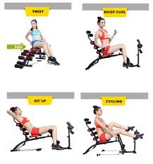 vigor fitness six pack care with bike abs machine lazada malaysia