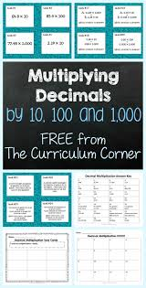 multiplying decimals by 10 100 u0026 1 000 multiplying decimals