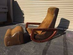 Rocking Chair Ottoman Contour Rocking Chair And Ottoman By Vladimir Kagan Rocking