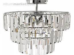 Homebase Chandelier Flush Ceiling Lights At Homebase Curls Large Modern Light Chrome