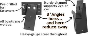 Deer Blind Elevator Brackets Shadow Hunter 4x4 Angled Elevator Brackets 4 Pack