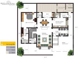 individual bungalows floor plan ground east facing villa house