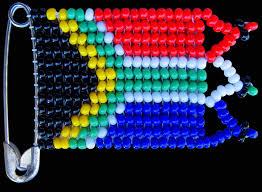 Aftican Flag Beaded Sa Flag African Bead Work Earth Africa Curio