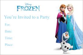 Invitation Card For A Birthday Party Frozen Birthday Party Invitations Kawaiitheo Com