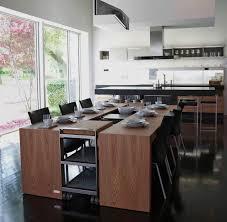 cuisine rectangulaire cuisine table ã manger contemporaine en bois rectangulaire modo