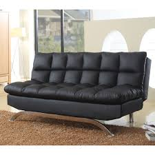 Black Tufted Sofa by Sofa Delightful Upholstery Material Faux Leather Cushion Back