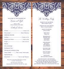traditional wedding programs wedding ceremony programs card traditional wedding