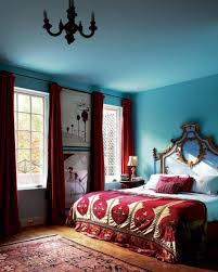 bedroom stylish light blue bedroom with red curtains idea awesome modern blue bedroom decorating ideas
