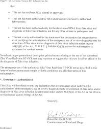 federal register authorization of emergency use of an in vitro