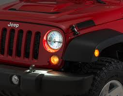 jeep lights on top quadratec gen ii led headlights for 07 18 jeep wrangler