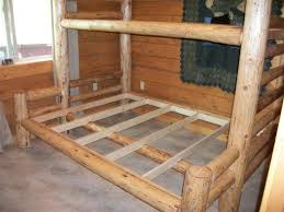 Log Bunk Bed Plans Spruce Log Bunk Bed By Gfys Lumberjocks Woodworking