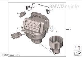 blower unit mounting parts bmw 5 u0027 f10 550i n63 usa