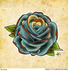blue rose tattoo i like this as a coverup for the tatt on my