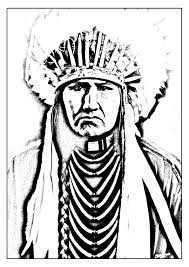 free coloring page coloring native indian and child indians