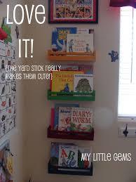 my little gems ikea hack spice rack turned book shelves boys