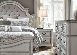 Antique White Bedroom Furniture Decorating Ideas Magnolia Manor Antique White Upholstered Panel Bedroom Set 244 Br