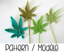 amigurumi leaf pattern pdf pattern marijuana leaf crochet pattern crochet pot