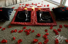 set the mood with rose petals for romance with your spouse