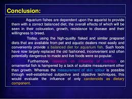 use of artificial fish feed merits demerits