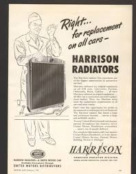 1950 print advertisement ad harrison radiators replacement for all