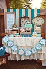baby shower themes boy it s time it s clocks clocks and more clocks with this play on
