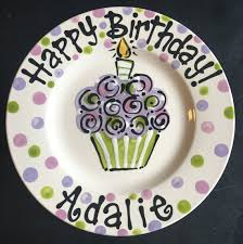 personalized birthday plate personalized birthday plate painted birthday plate