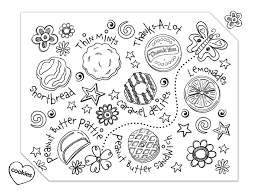 Girl Scout Cookies Coloring Pages Timeless Miracle Com Coloring Cookies