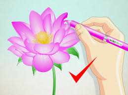 Simple Lotus Flower Drawing - how to draw a lotus flower 7 steps with pictures wikihow