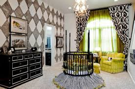 Black Baby Bed Kids Room Stunning Nursery Design With The Round Crib In The