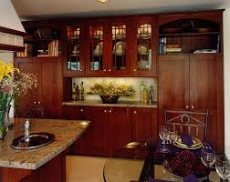 hand made arts u0026 crafts kitchen remodel of cherry wood by cabinets