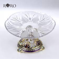 craft home decoration modern crystal fruit plate pewter fruit bowl