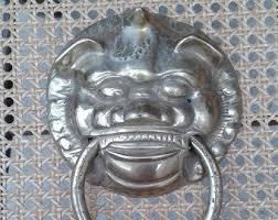 foo dog door knocker brass foo dog etsy
