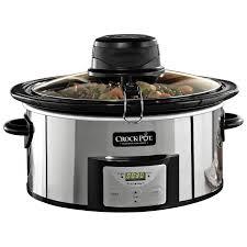 fingerhut crock pot programmable 6 5qt oval slow cooker