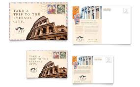 italy travel postcard template word u0026 publisher