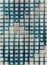 fortuna blue mid century modern rug well woven