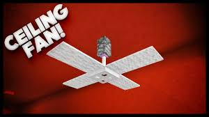 minecraft how to make a ceiling fan youtube