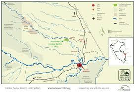 Amazon River World Map by Las Piedras Amazon Center Lpac