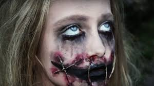 creepy with ripped mouth halloween makeup tutorial natalie