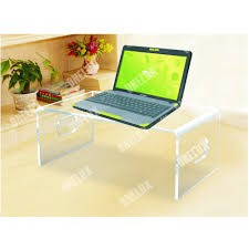 Pc Table Desktop Acrylic Laptop Stand Computer Monitor Stand Lucite Pc Desk
