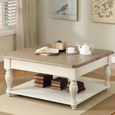 coffee table white and wood coffeele natural roundles antique
