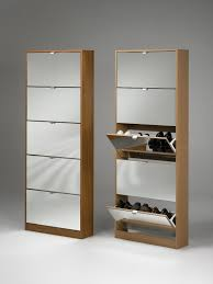 furniture rectangle brown wooden shoes cabinets with pull out