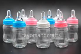 baby bottle favors 48 jumbo fillable bottles for baby shower favors blue pink party
