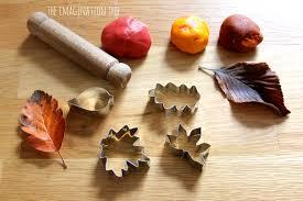 leaf shaped writing paper cinnamon salt dough leaf ornaments the imagination tree invitation to create leaf models with autumn spice salt dough