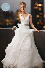 designer wedding dresses online v neck organza ruffled designer white wedding gowns online v neck